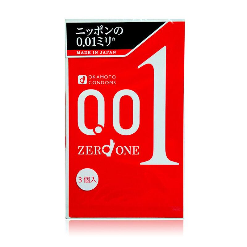 日本okamoto/冈本001避孕套超薄避孕套3枚/盒