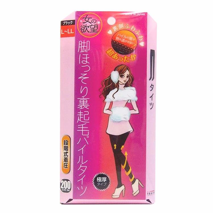 日本TRAIN/女之欲望丝袜细束修身发热加厚黑色连裤袜200D L~LL码1条/盒