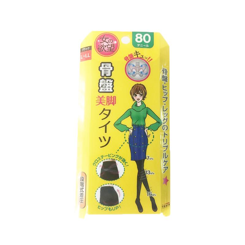 日本TRAIN/女之欲望美腿袜80 L-LL 1双/盒