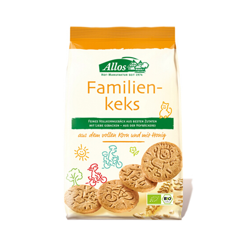 德国ALLOS有机原味家庭全麦饼干