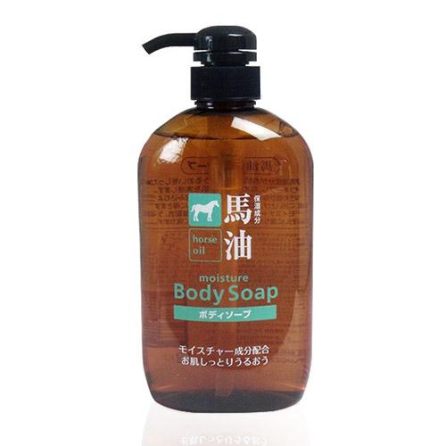 日本熊野油脂kumano马油沐浴露600ml/瓶