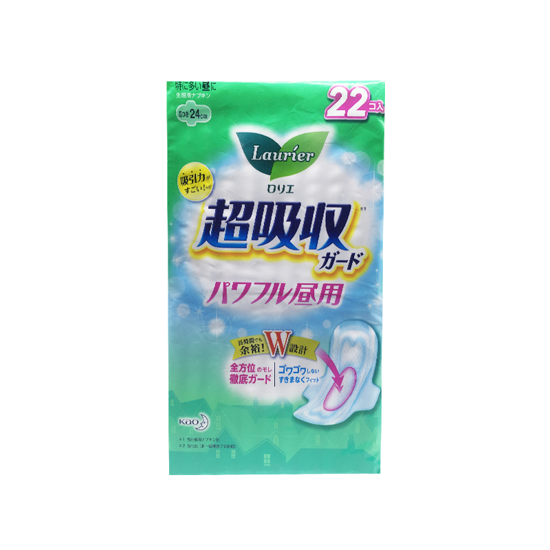 日本花王乐而雅超吸收防漏量多日用卫生巾24cm 22片/包