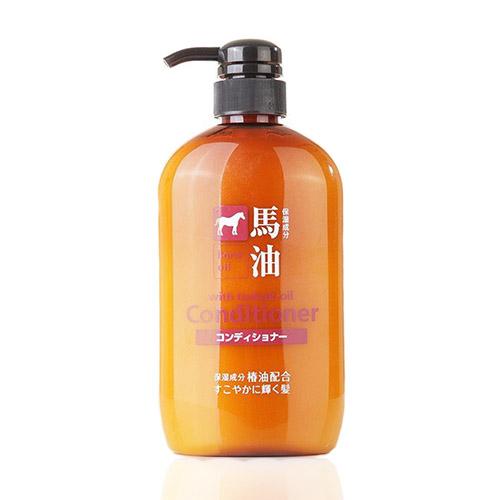 日本熊野油脂kumano马油护发素600ml/瓶